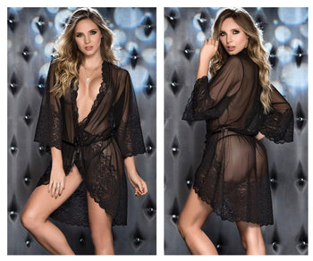 7141 Lace Robe with Matching G-String