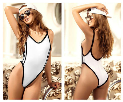 6908 One Piece Swimsuit High Leg Trend