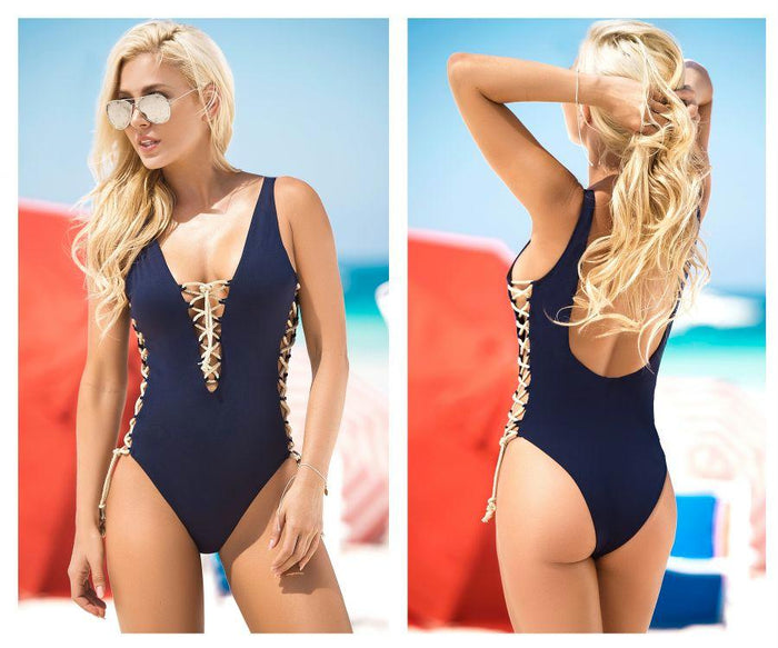 6920 Lace-Up One Piece Swimsuit