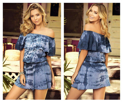 4998 Dress Loose Fit Elastic Waist and Off The Shoulder Trend