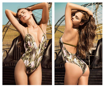 6942 One Piece Swimsuit with V-Shape Underwire