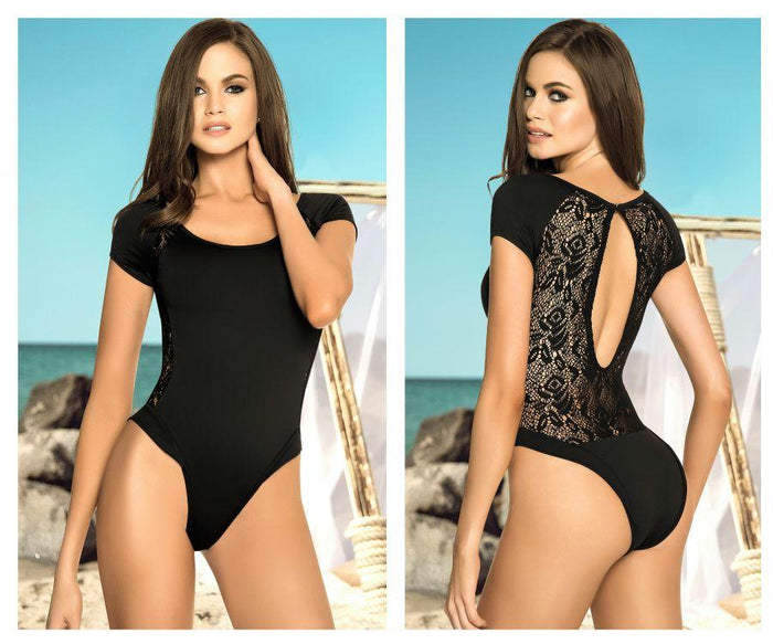 6950 One Piece Swimsuit with Back Netting