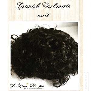 Spanish Curl Male Hair Unit