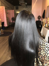 Load image into Gallery viewer, Affordable hair bundle deals! High quality virgin human hair extensions! #1 Seller! long lasting hair! no tangling & no shedding! online purchase and in salon pick up available bundle deals availiable! virgin hair straight body wave. Best quality of virgin human hair extensions with bundle deal.