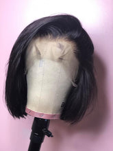 Load image into Gallery viewer, lace frontal 12 bob wig frontal natural hair Ear to ear lace frontal   adjustable straps available in wig  natural looking  *not a 360 frontal*