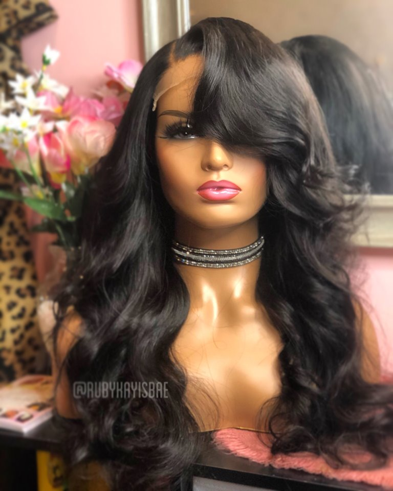 Glueless Closure Body Wave Wig Unit