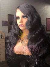 "Load image into Gallery viewer, 24"" Body Wave Human Hair Blend Wig Unit"