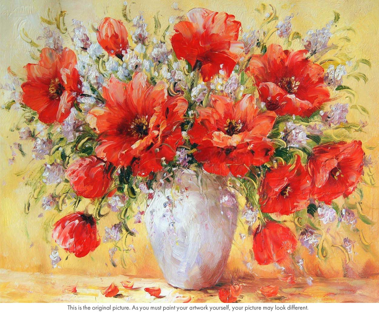Bouquet Of Red Poppies Still Life Paint By Numbers Say Hello To