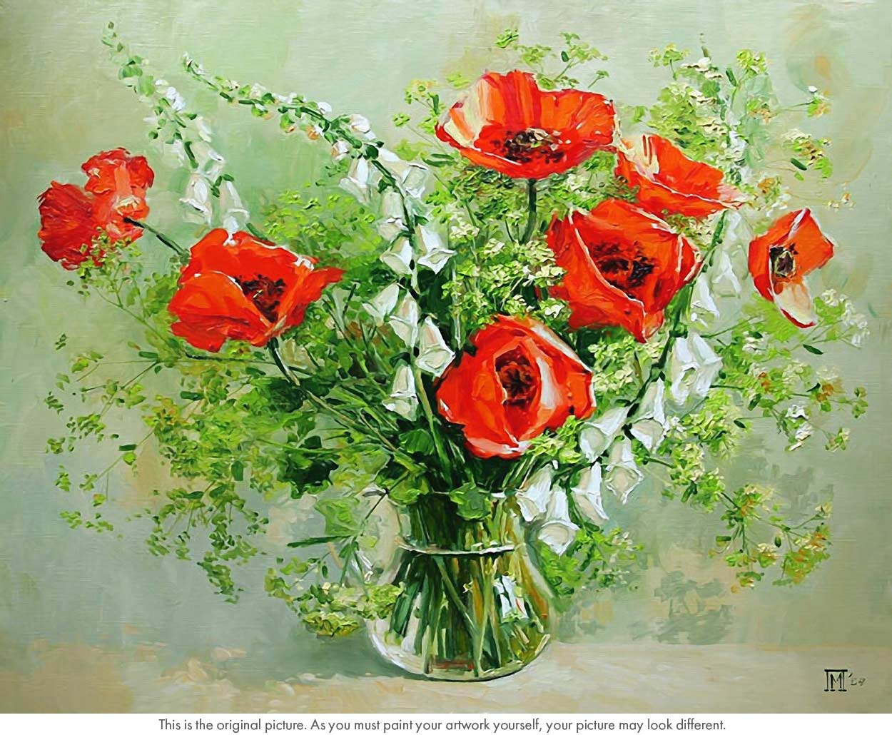 Vase Of Red Poppies Flower Still Life Paint By Numbers Say Hello