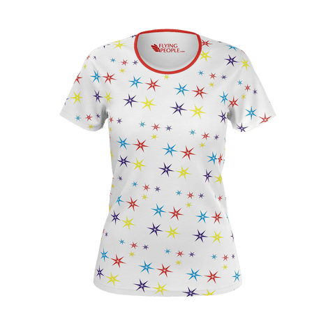 STARS PATTERN WOMEN'S T'SHIRT