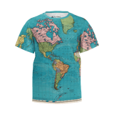 AZUR WORLD MAP KID'S T'SHIRT