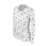 STARS PATTERN LONG SLEEVE WOMEN'S T'SHIRT