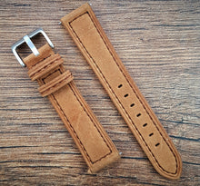 Suede Leather Strap - Light Brown - 20mm/22mm