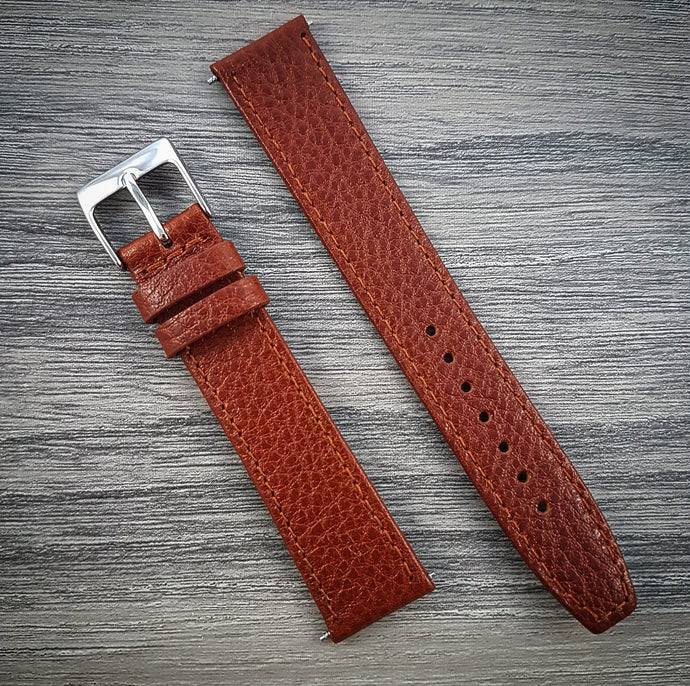 Textured Leather Strap - Tan - 16mm/18mm