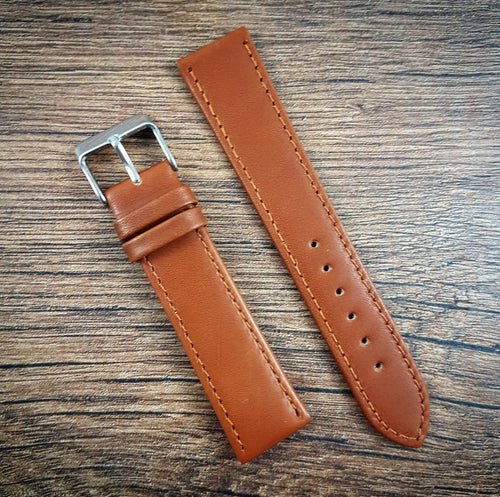 Smooth Leather Strap - Light Brown - 18mm/20mm/22mm