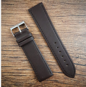 Smooth Leather Strap - Dark Brown - 18mm/20mm/22mm
