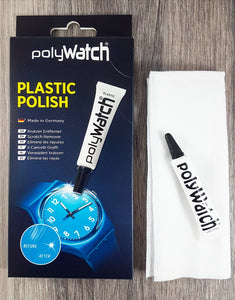 Polywatch Plastic Polish & Cloth Set - Ideal for Scratched Acrylic Crystals!