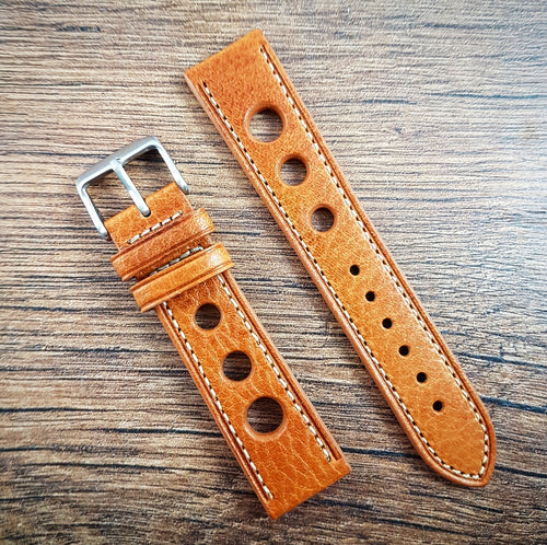 Racing Drivers Leather Strap - Light Brown - 18mm/20mm