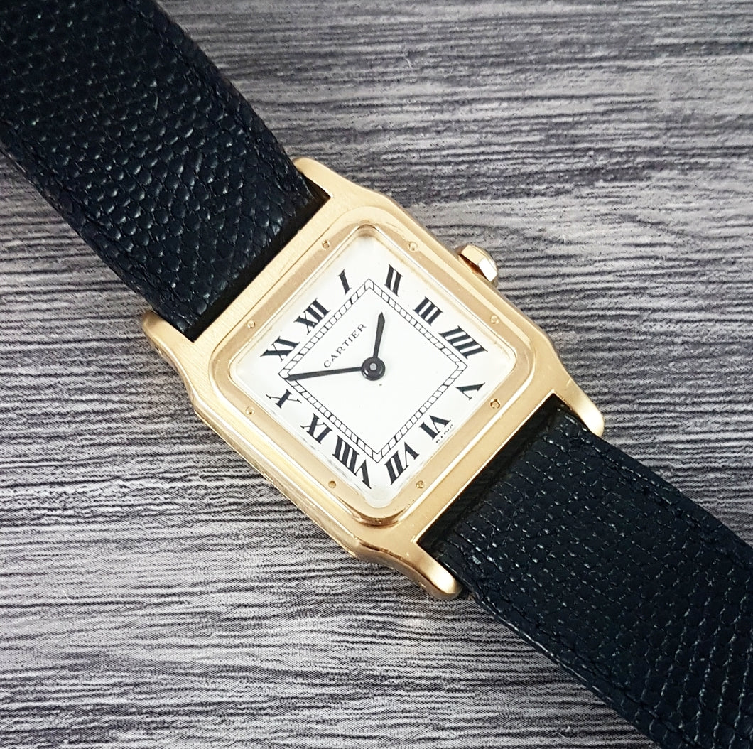 1970s Cartier Santos Dumont 18ct Gold 'Paris'
