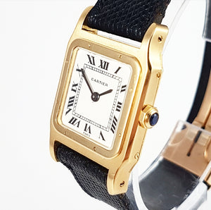 1970s Cartier Santos Dumont 18ct 'Paris'