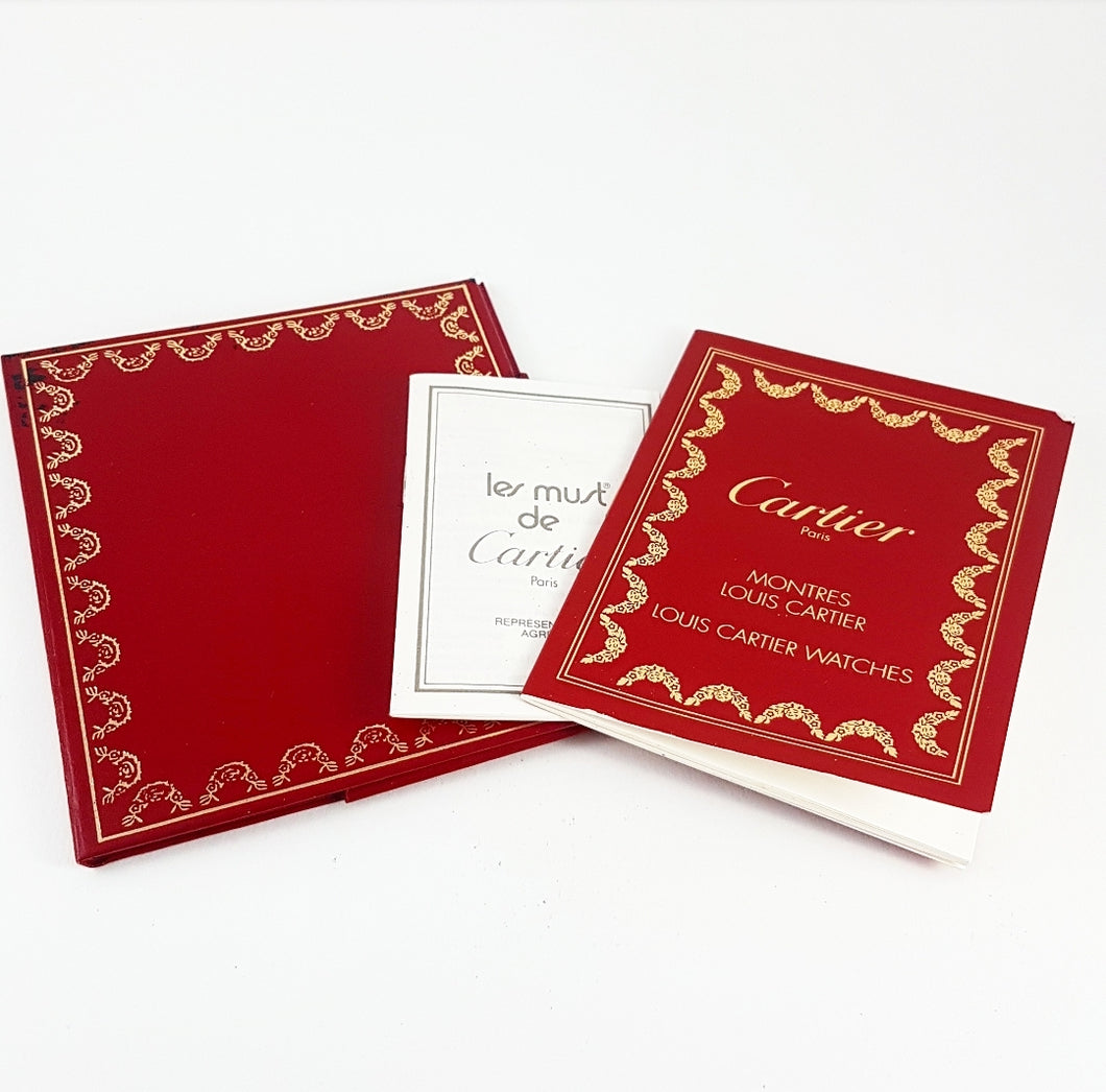 Original Cartier Louis Cartier Watch Instruction Booklets and Document Wallet