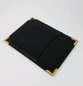 Rolex Black and Gold Document Wallet 101.20.34