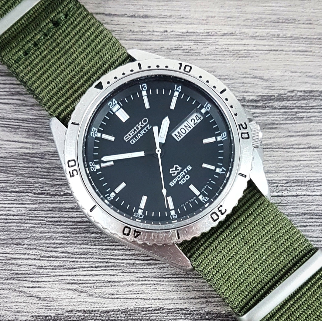 1979 Seiko SQ Sports 100 7546-6020 Quartz