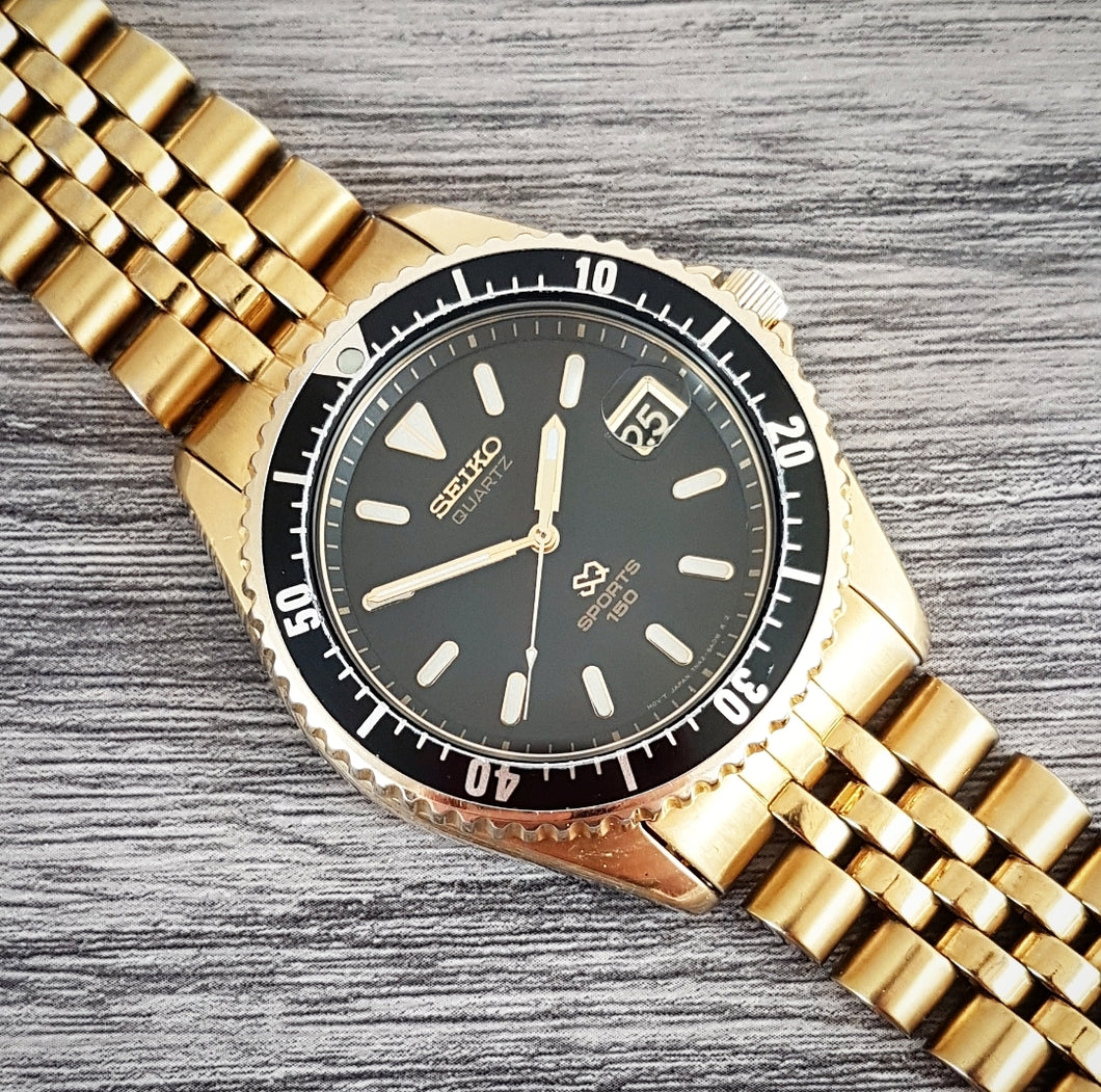 1990 Seiko SQ Sports 150 7N42-6A00 Quartz