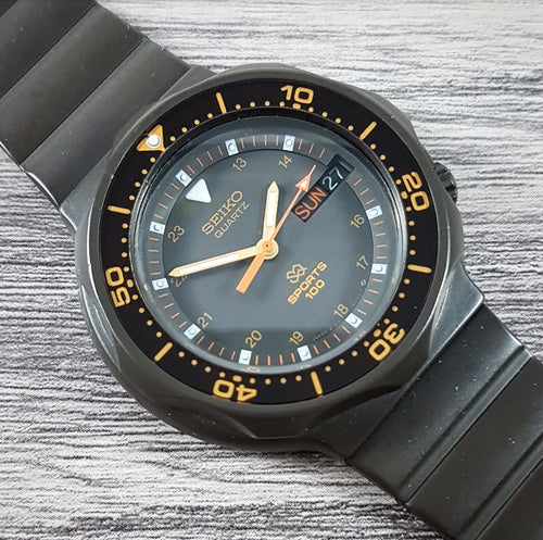 1985 Seiko SQ Sports 100 8123-6280 Quartz