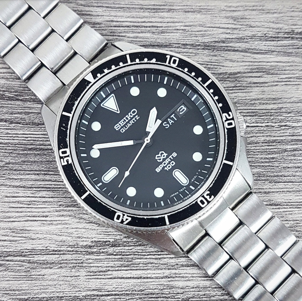 1979 Seiko SQ Sports 100 7546-604a Quartz