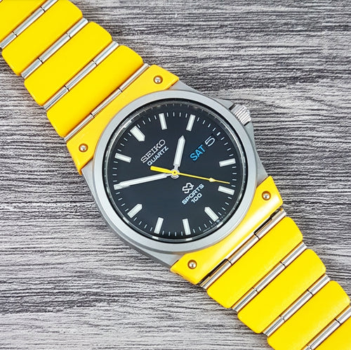 1984 Seiko SQ Sports 100 'Banana' 8123-7140 Quartz