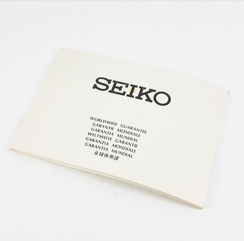 1978 Seiko Guarantee Booklet