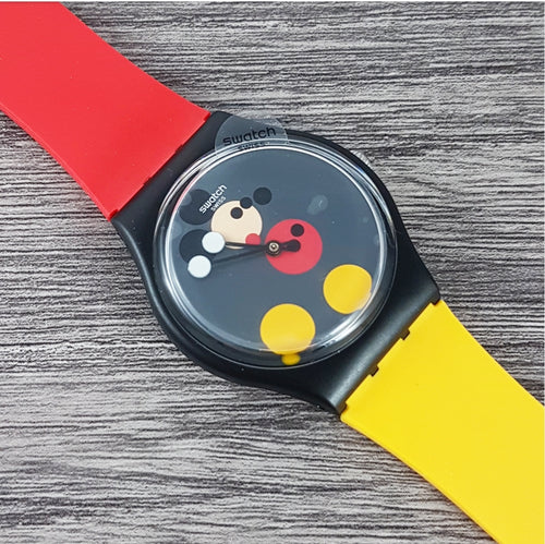 2018 Swatch x Damien Hirst 'Spot Mickey' Quartz Numbered New Old Stock