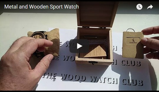 Metal and Wooden Sport Watch video
