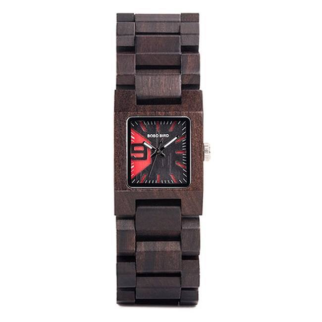 Square Wooden Womens Watch with Wooden Band