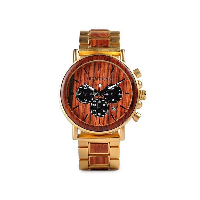 Luxury Two-Toned Wooden Watch