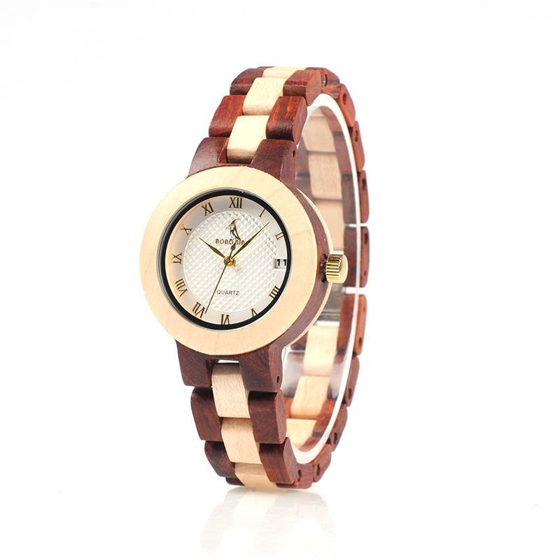 Two-Toned Round Wooden Watch