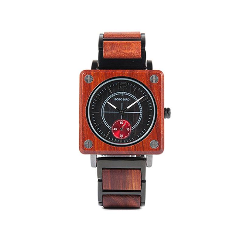 Square Luxury Wooden Watch