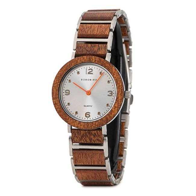 Sleek Ultra Thin Wooden Watch for women