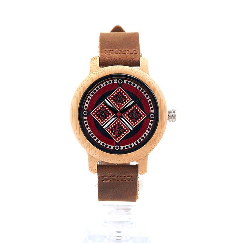 Bamboo Watch with Pattern