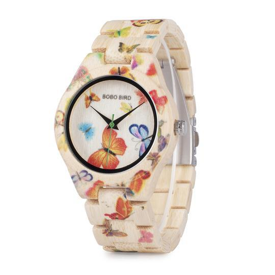 Butterfly Wooden Watch