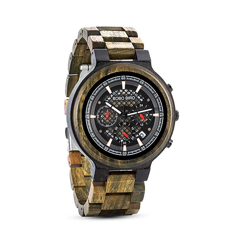 Camo Green Sandalwood Watch