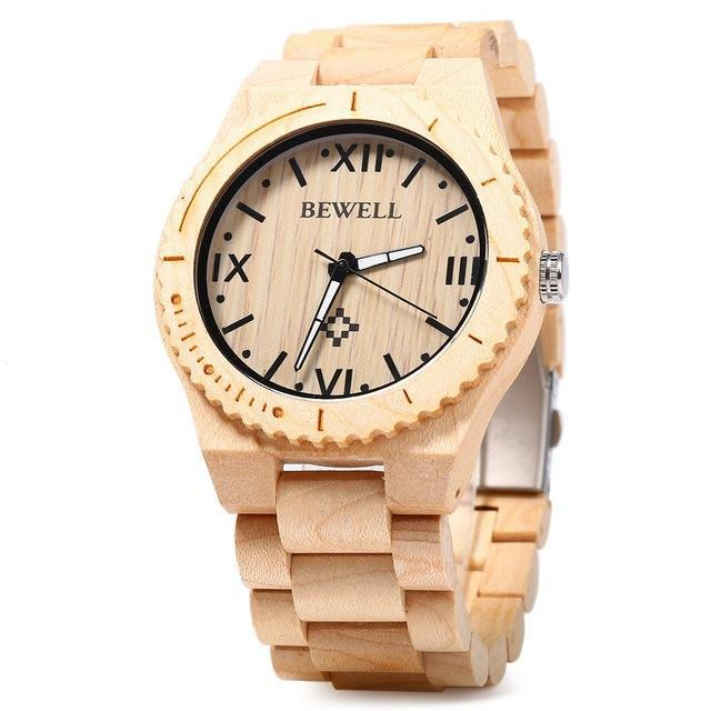 Fashionable Wooden Men Watch from Bewell