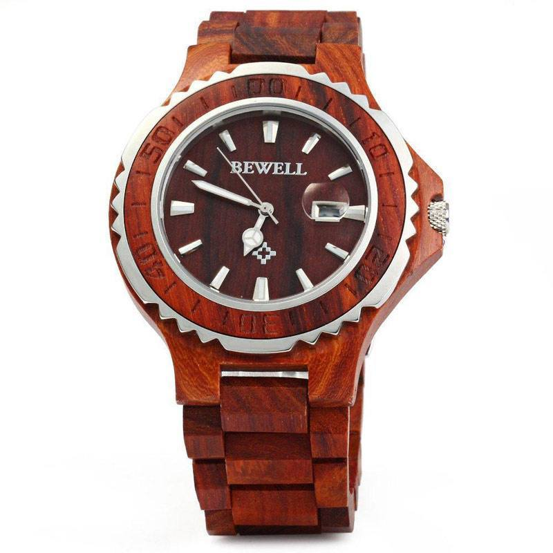 Wooden Watch with Luminous Hands for Men