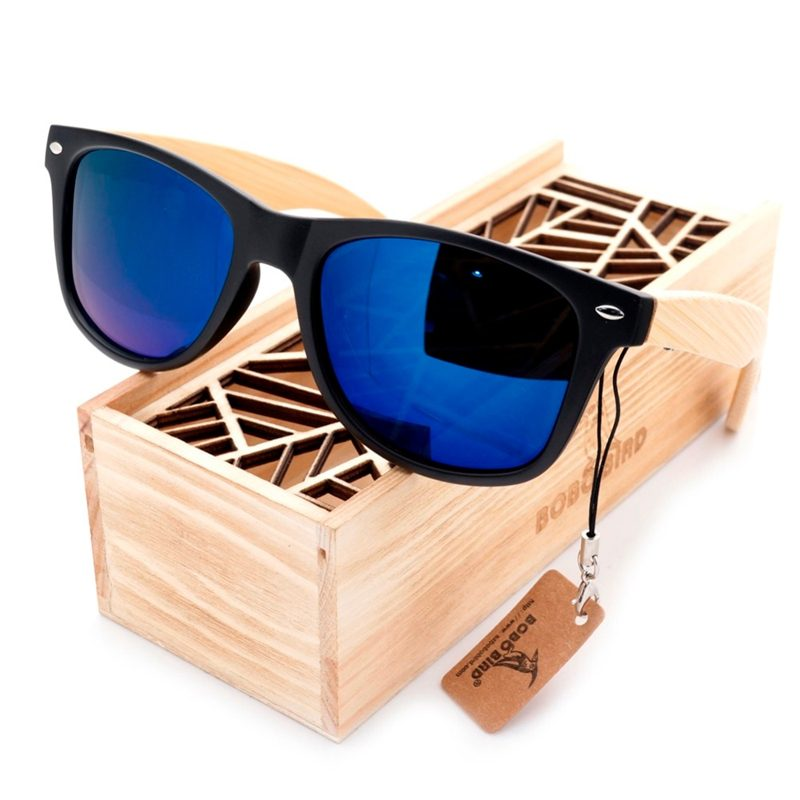 Vintage Mirror Wooden Sunglasses