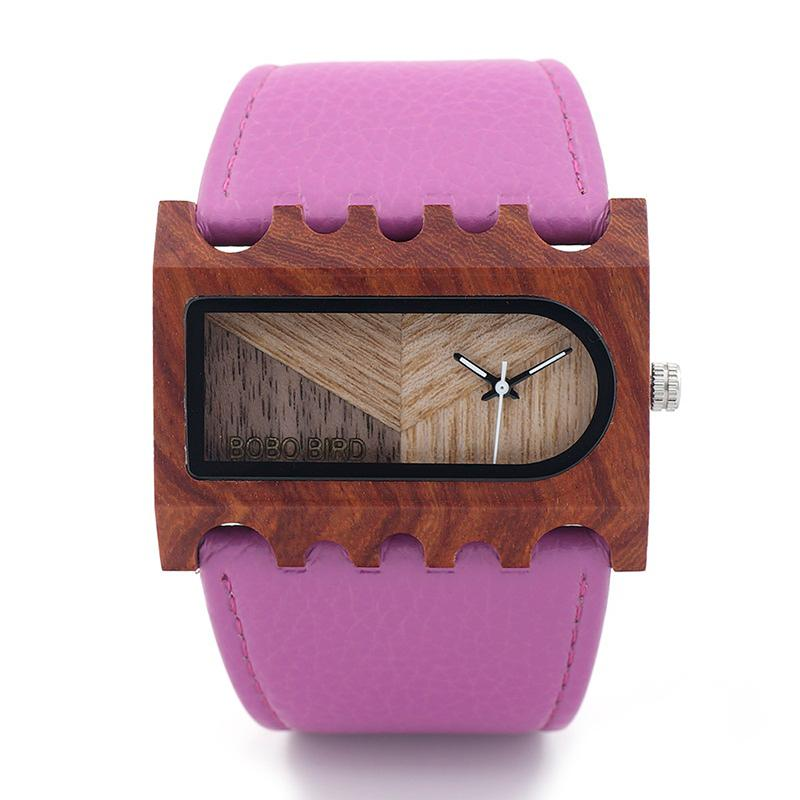 Modern Rectangle Wooden Watch