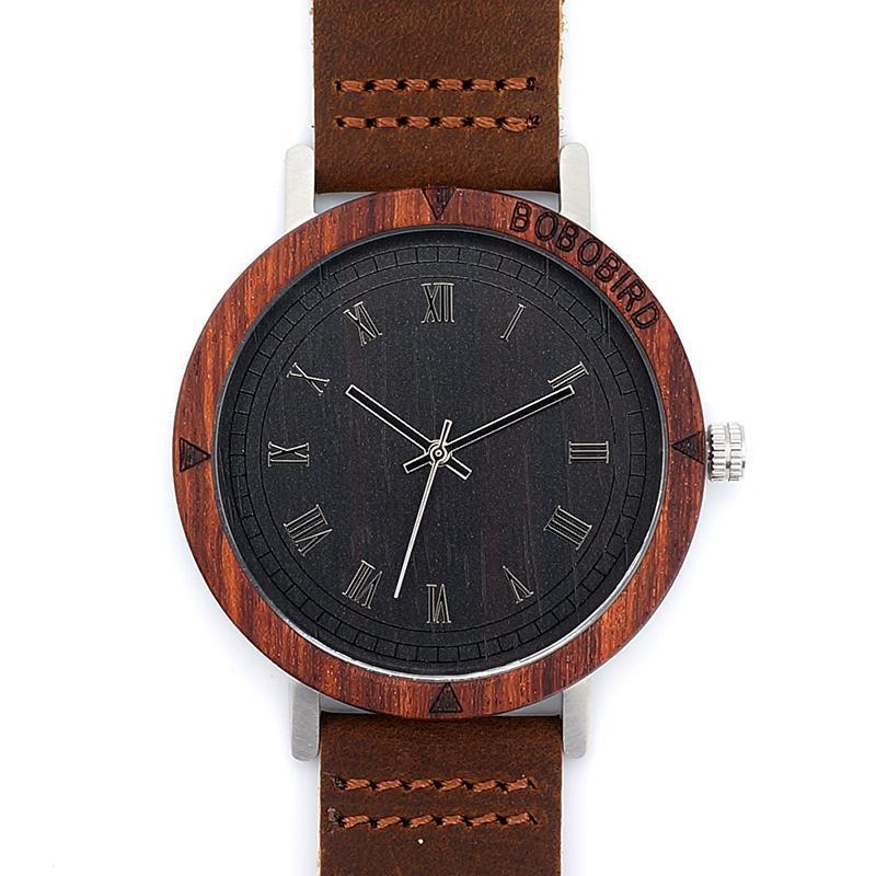 Brown Roman Luxury Wooden Watch
