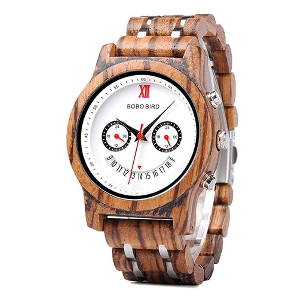 Smiley Face Wooden Watch