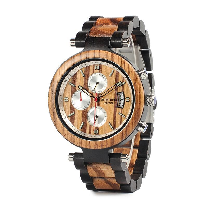 Sport Wristwatch Metal / Wood