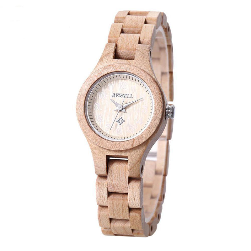 Stylish BEWELL Wooden Watch for Women